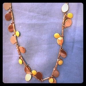 Jcrew yellow & gold Necklace